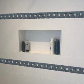 5 Streifen Badezimmer