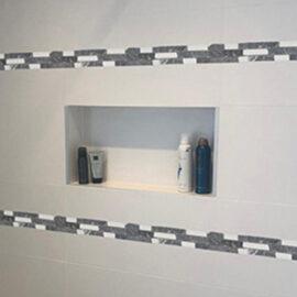 7 b616 Streifen Badezimmer