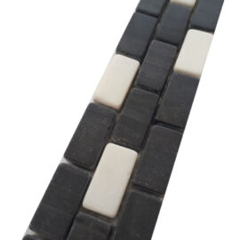 Mosaik Bordüre Schwarz Weiss