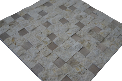 Mozaiek tegels marmer aluminium 30x30cm M752 Topmozaiek24