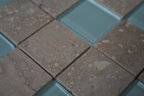 Mozaiek tegel marmer glas 30x30cm M555 Topmozaiek24