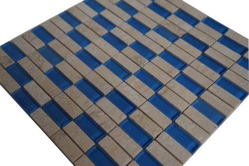 Mozaiek tegel marmer glas 30x30cm M557 Topmozaiek24