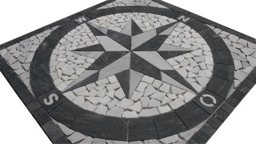 Mozaiek tegels medallion 046 Topmozaiek24