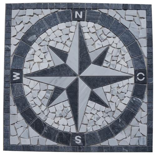 Mozaiek tegels medallion 60x60cm 014 Topmozaiek24