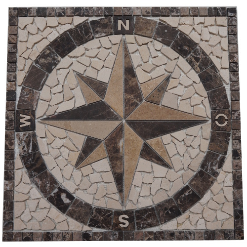 Mozaiek tegels medallion 60x60cm 019 Topmozaiek24
