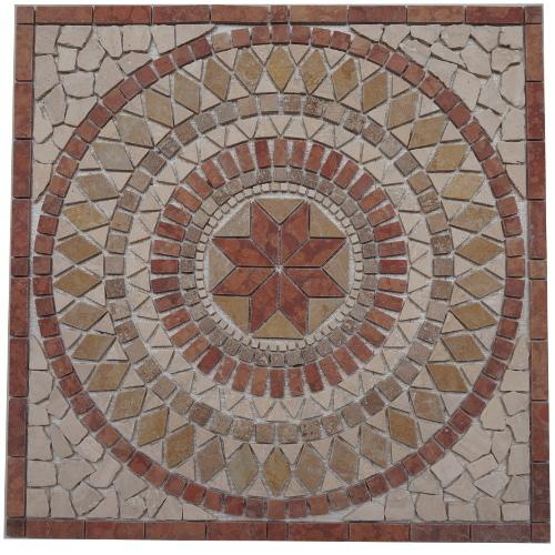 Mozaiek tegel medallion 60x60cm 024 Topmozaiek24