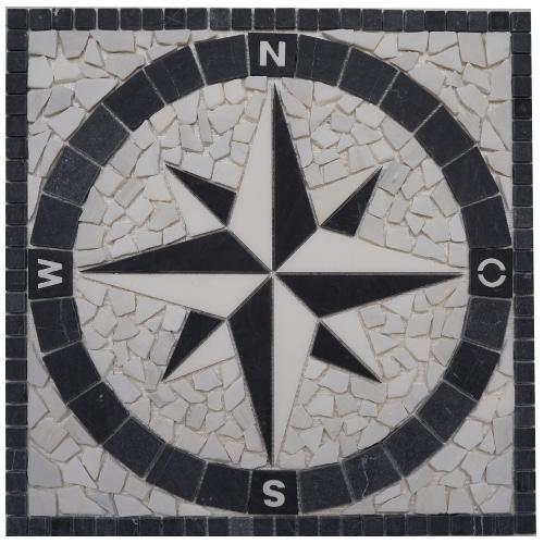 Mozaiek tegels medallion 60x60cm 034 Topmozaiek24