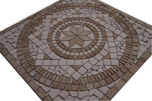 Mozaiek tegels medallion 60x60cm 054 Topmozaiek24