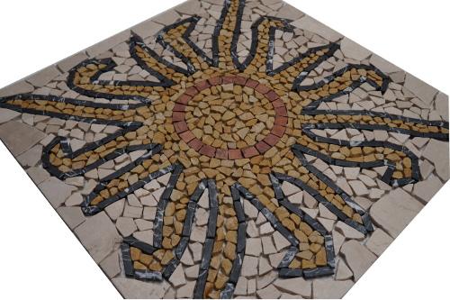 Mozaiek tegels medallion 60x60cm Sun Topmozaiek24
