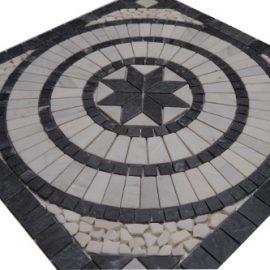Mozaiek tegels medallion 66x66cm 044 Topmozaiek24
