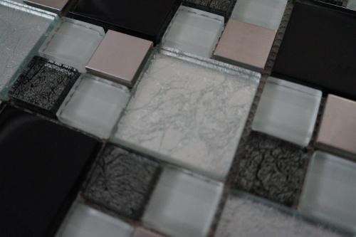 Mozaiek tegels rvs glas 30x30cm M711-30 Topmozaiek24