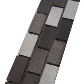 Mozaiek tegelstrip aluminium 5x30cm B801 Topmozaiek24