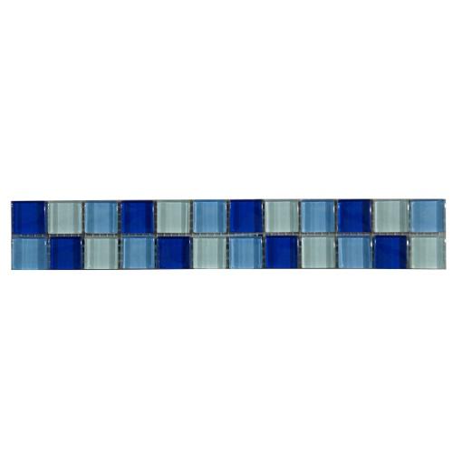 Mozaiek tegelstrip glas 5x30cm B222 Topmozaiek24