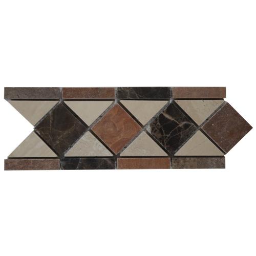 Mozaiek tegelstrip marmer 10x30cm Oldnavy Topmozaiek24