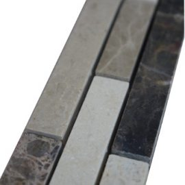 Mozaiek tegelstrip marmer 5x30cm B019 Topmozaiek24