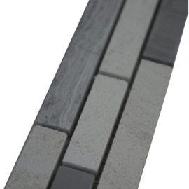 Mozaiek tegelstrip marmer 5x30cm B031 Topmozaiek24