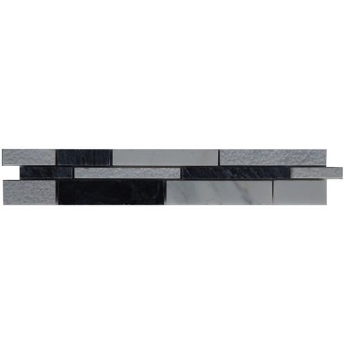 Mozaiek tegelstrip marmer 5x30cm B037 Topmozaiek24