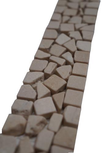 Mozaiek tegelstrip marmer 5x30cm B484 Topmozaiek24