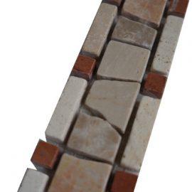 Mozaiek tegelstrip marmer 5x30cm B500 Topmozaiek24