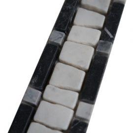 Mozaiek tegelstrip marmer 5x30cm B501 Topmozaiek24