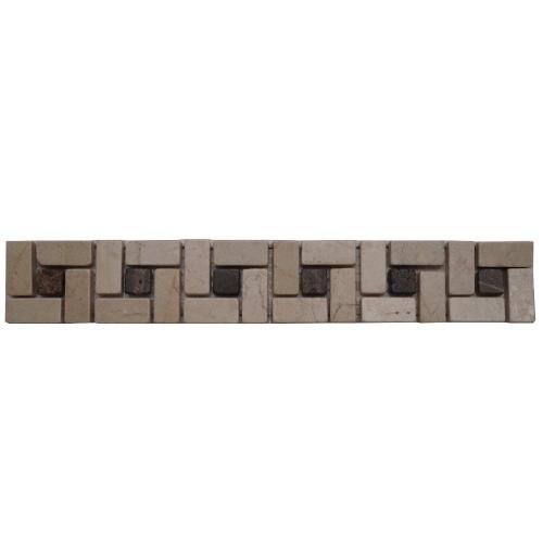 Mozaiek tegelstrip marmer 5x30cm B513 Topmozaiek24