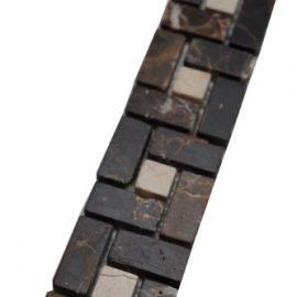 Mozaiek tegelstrip marmer 5x30cm B518 Topmozaiek24
