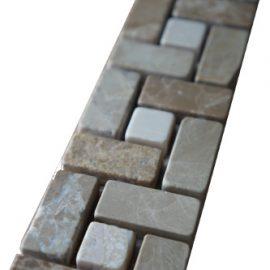 Mozaiek tegelstrip marmer 5x30cm B519 Topmozaiek24