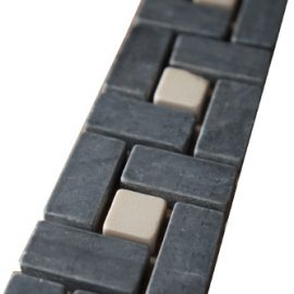 Mozaiek tegelstrip marmer 5x30cm B520 Topmozaiek24