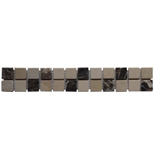 Mozaiek tegelstrip marmer 5x30cm B528 Topmozaiek24