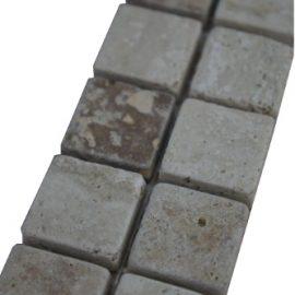 Mozaiek tegelstrip marmer 5x30cm B529 Topmozaiek24