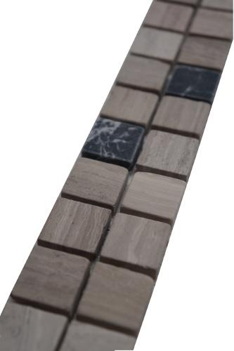 Mozaiek tegelstrip marmer 5x30cm B570 Topmozaiek24