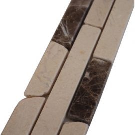 Mozaiek tegelstrip marmer 5x30cm B613 Topmozaiek24