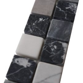Mozaiek tegelstrip marmer 5x30cm B662(2) Topmozaiek24