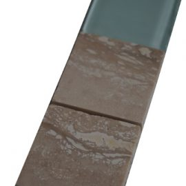Mozaiek tegelstrip marmer glas 5x30cm B555 Topmozaiek24