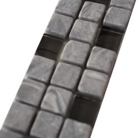 Mozaiek tegelstrip marmer glas 5x30cm B670 Topmozaiek24