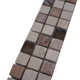 Mozaiek tegelstrip marmer glas 5x30cm B673 Topmozaiek24