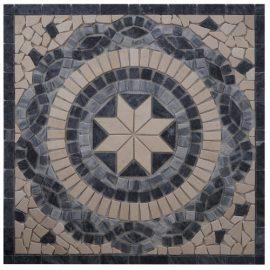 Mozaiek tegels medallion 66x66cm EM3 Topmozaiek24