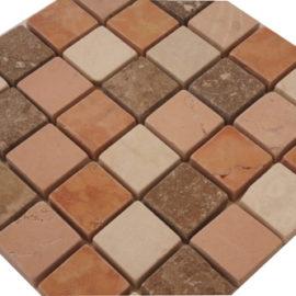 Mozaiek tegels marmer 15x15cm M667-15 Topmozaiek24