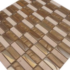 Mozaiek tegels marmer glas 30x30cm M676 Topmozaiek24