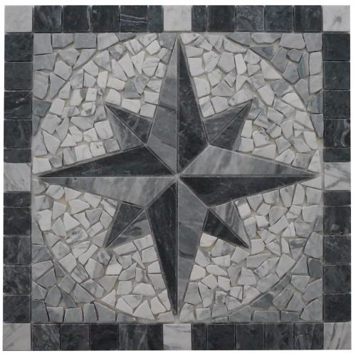 Mosaikfliesen Borduren Rosonen Aus Carrara Marmor Topmosaik24