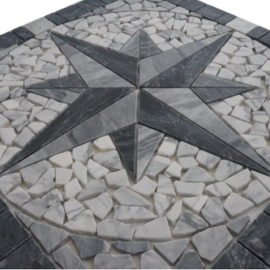 Mozaiek tegel medallion 60x60cm 071 Topmozaiek24