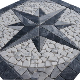 Mozaiek tegels medallion 60x60cm 51107 Topmozaiek24