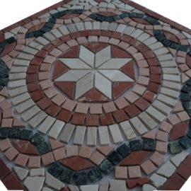 Mozaiek tegel medallion 66x66cm 51062 Topmozaiek24