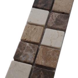 Mozaiek tegelstrip marmer 5x30cm B571(2) Topmozaiek24